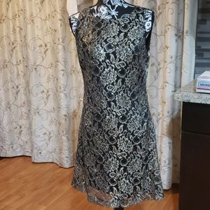 American Living Women's Metallic Lace Dress